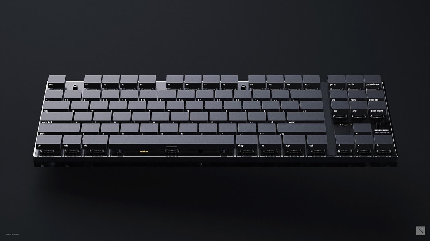 industrial design  concept design product design  3D rendering CGI keyshot fusion 360 keyboard mechanical keyboard