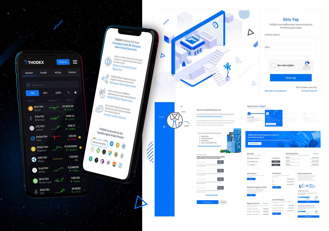 bitcoin cryptocurrency exchange thodex UI ui design Web Web Design