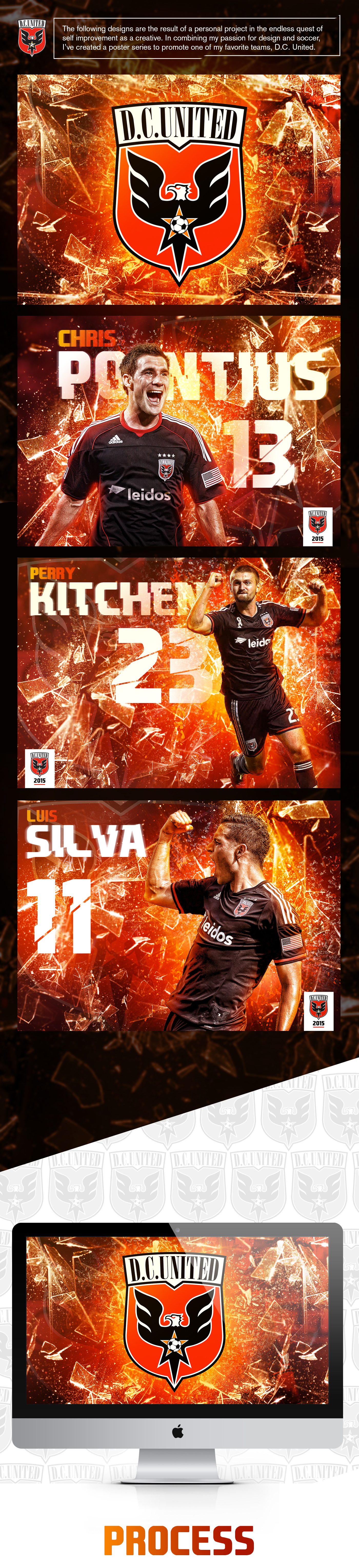 photoshop,topaz labs,soccer,sports,design,D.C. United,mls,poster,series,Photo effect