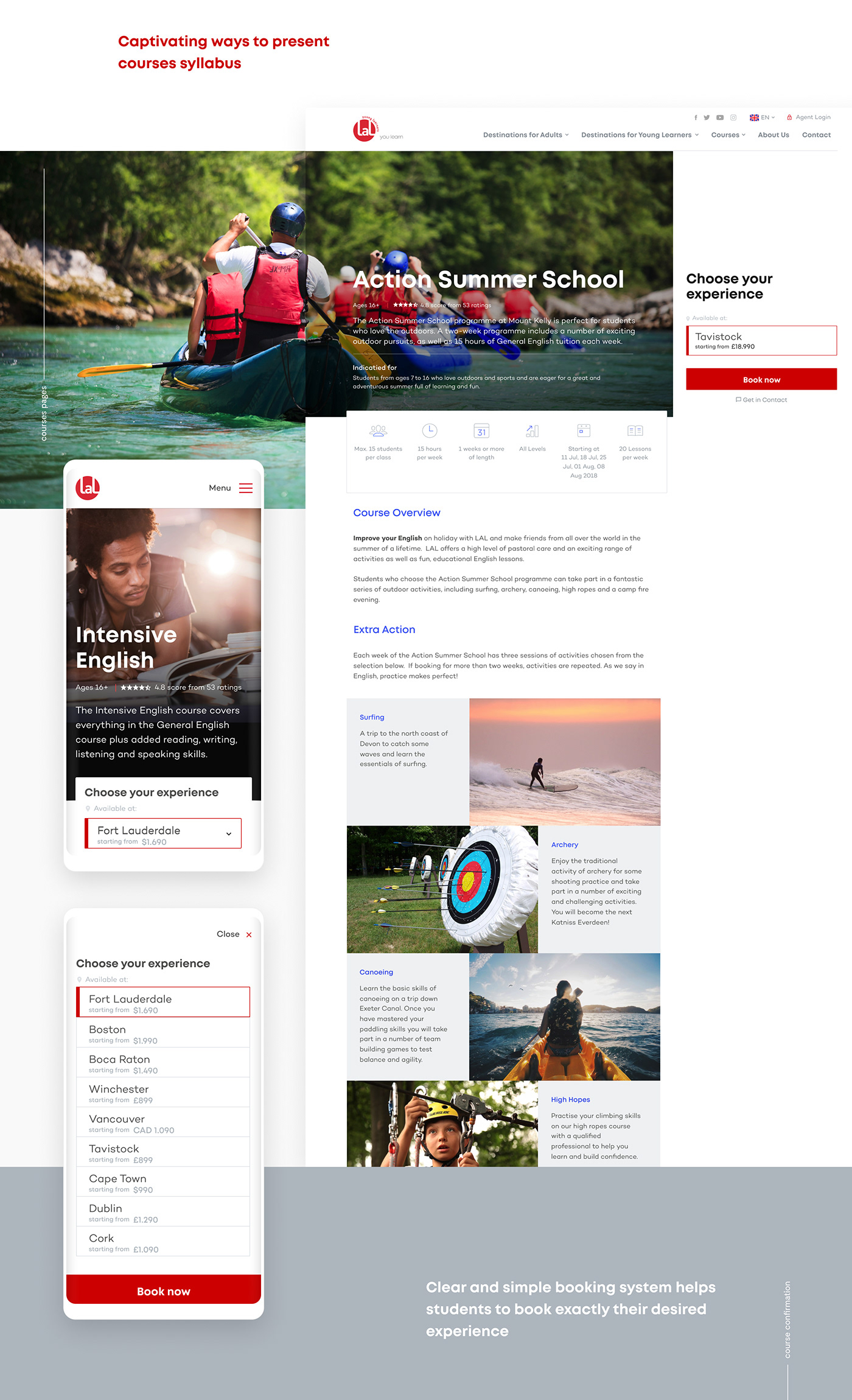 Website corporate redesign school Education ux/ui modern typography   Photography  fresh