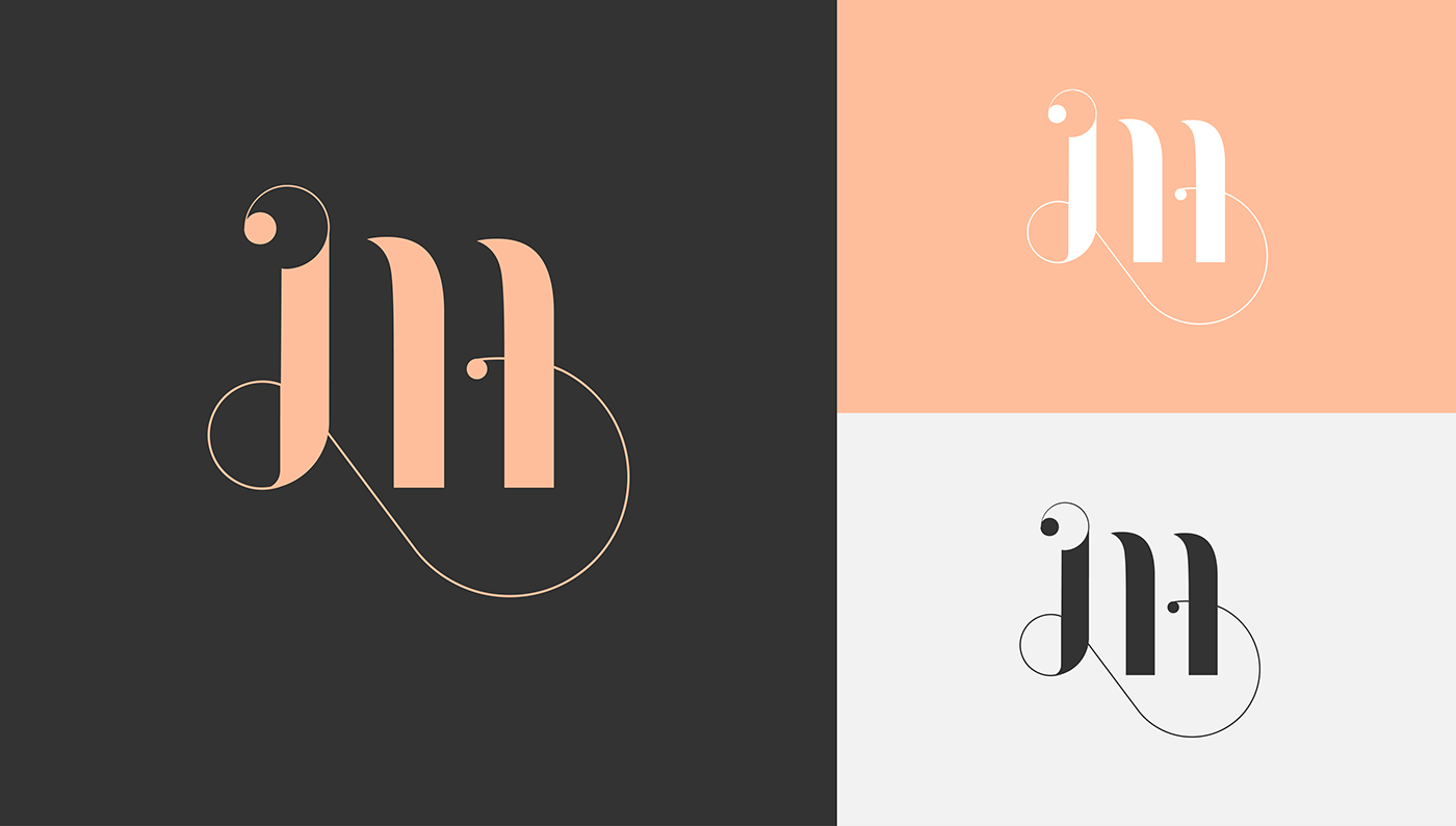 brand identity identity personal letter logo name visual identity lettering monogram personal branding