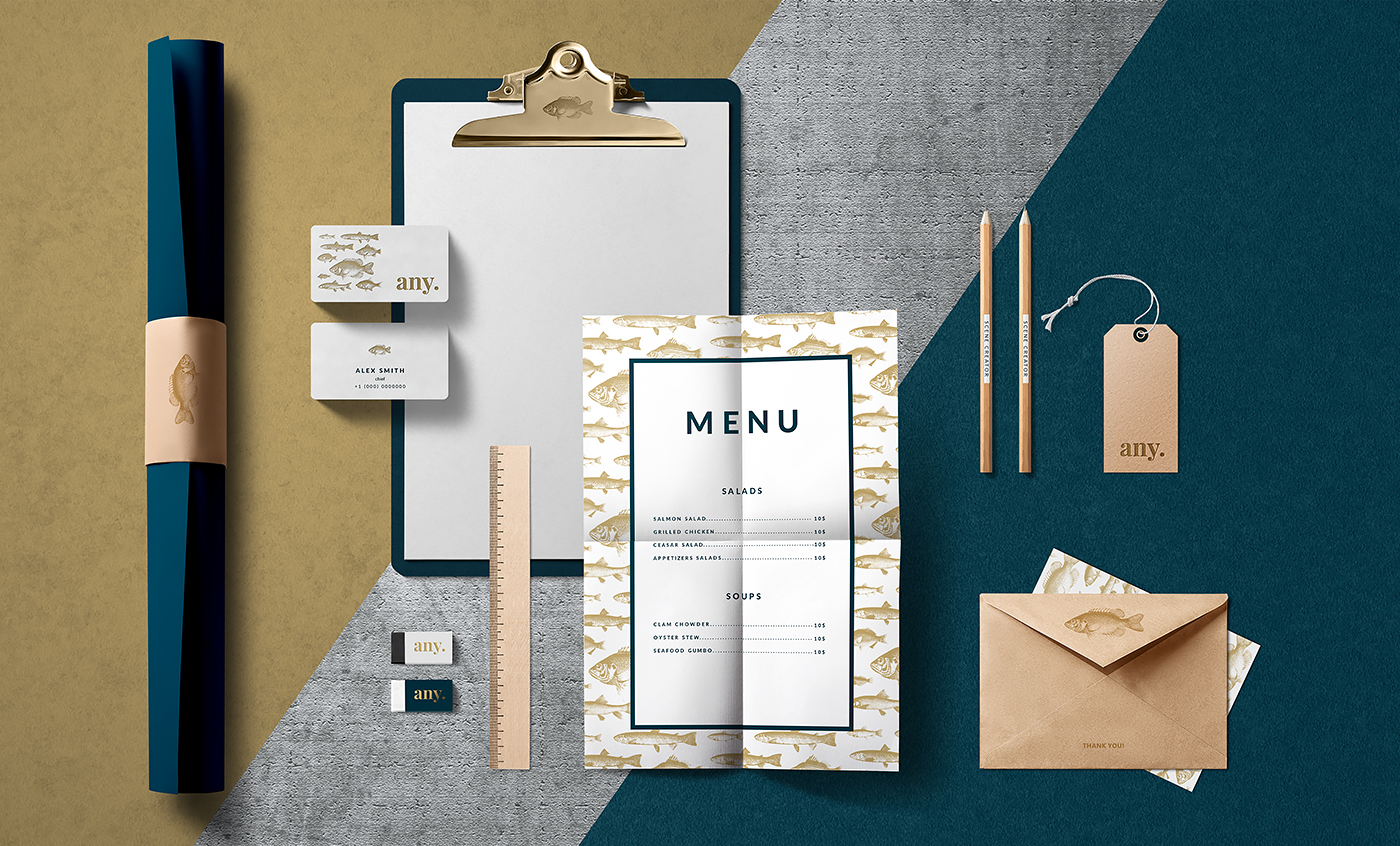 free download psd mock up Stationery Marble brand template Mockup