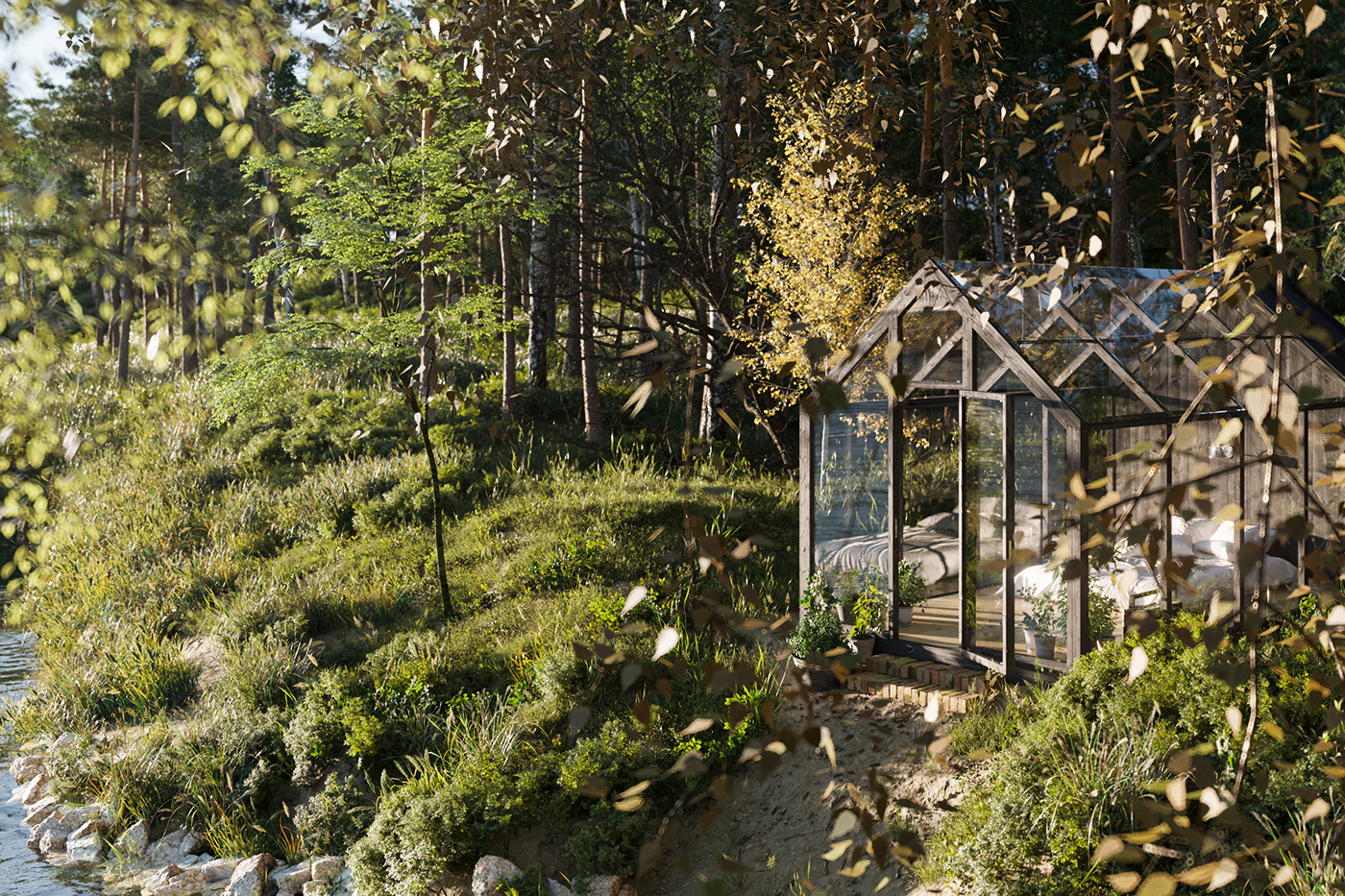 Dream Garden Shed [FULL CGI] on Behance