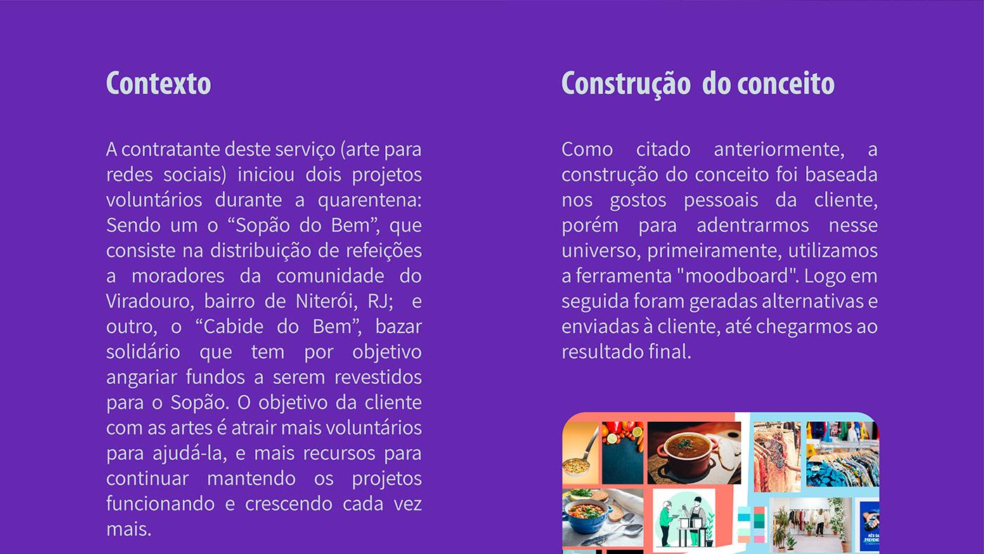 design gráfico Projeto social Redes Sociais social media
