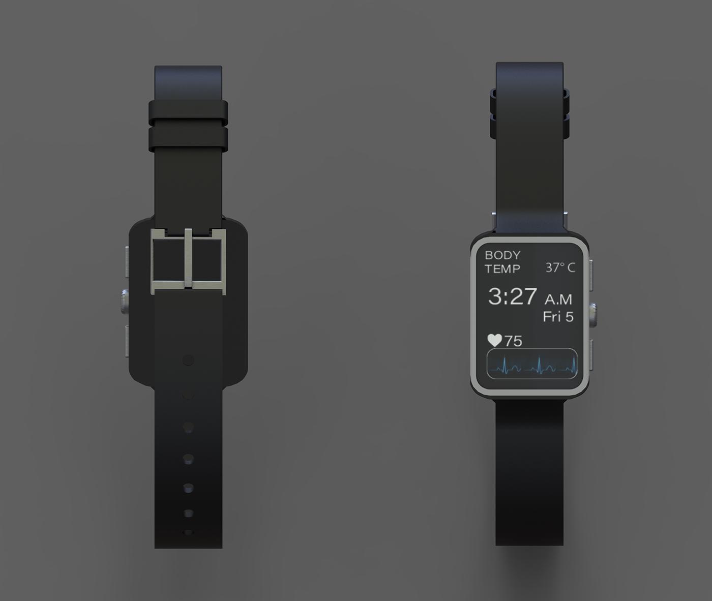 watch smart watch Mountain Climbing Render Rhino watch design Accessory design Fashion  keyshot
