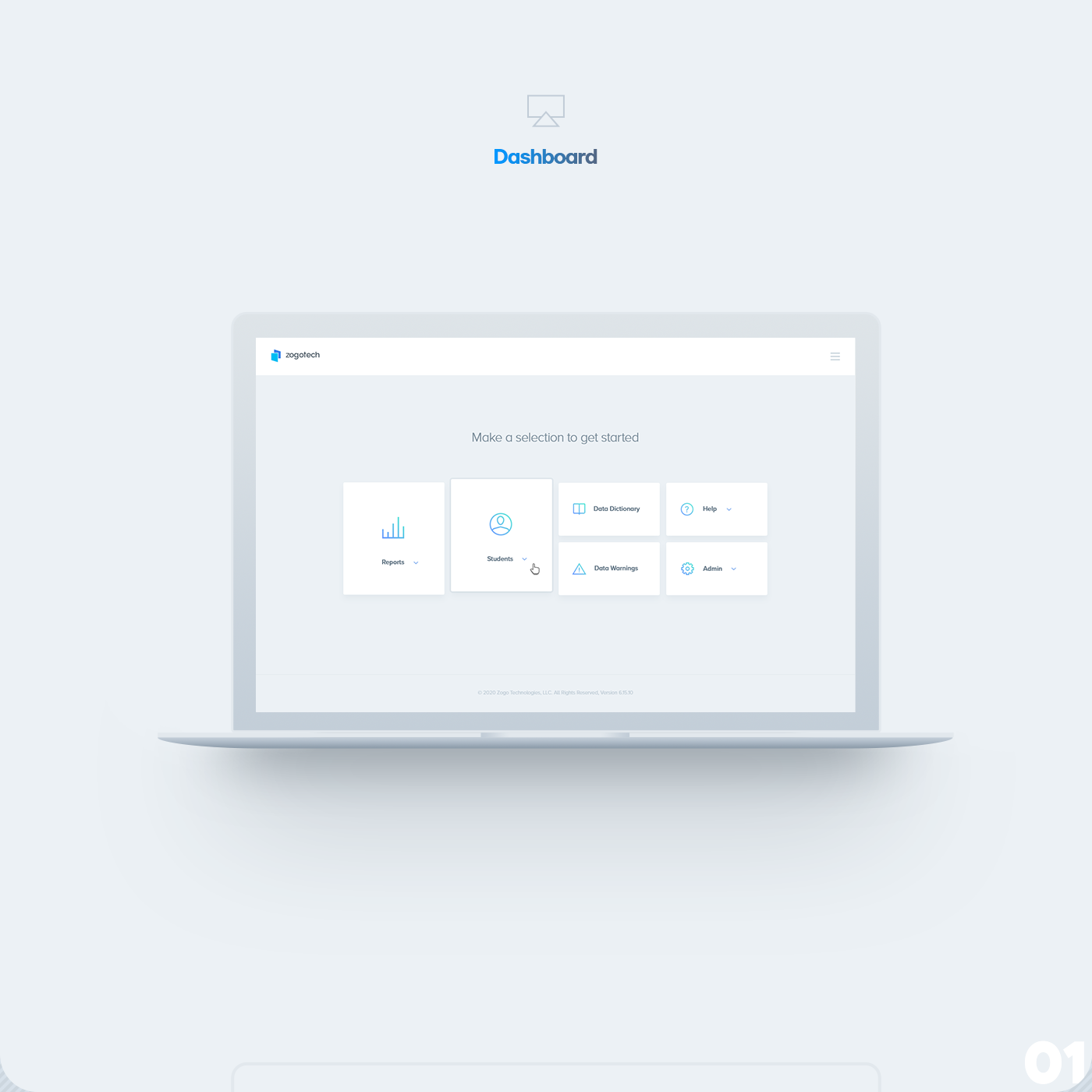 Education interface design UI