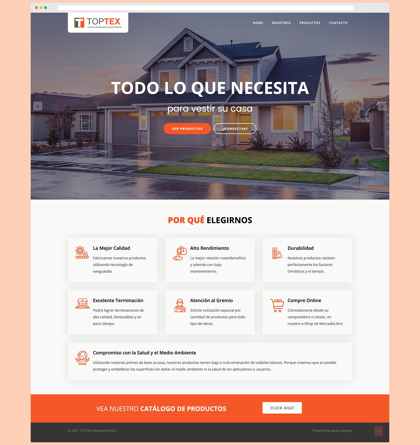 TOPTEX Revestimientos - Sitio web institucional - Home