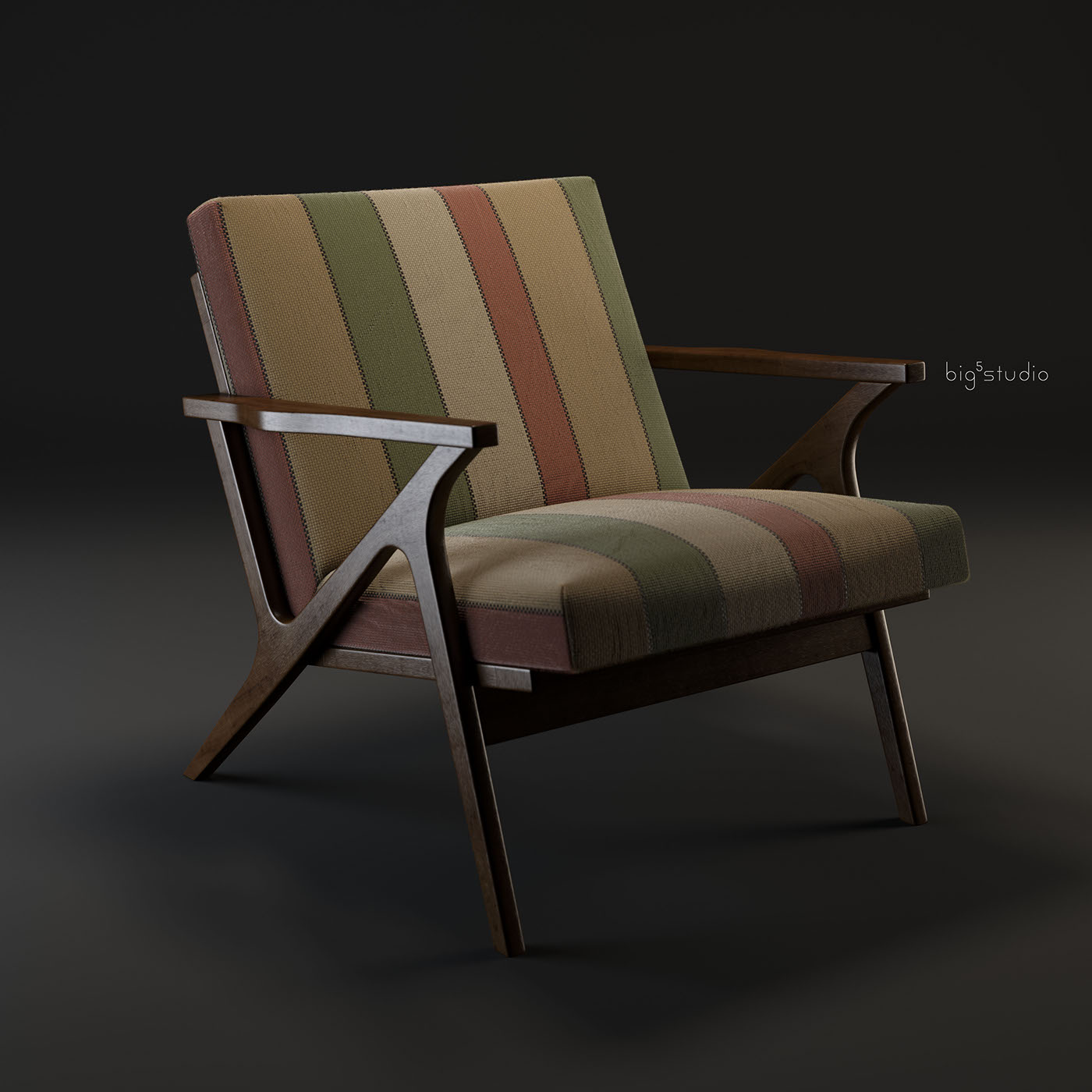 Cavett Wood Frame Chair On Behance