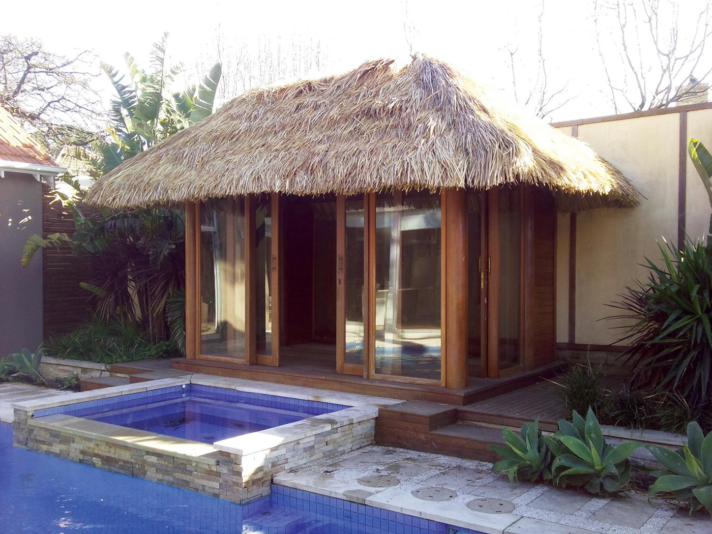 Best bali hut designs aarons outdoor living for Pool hut designs