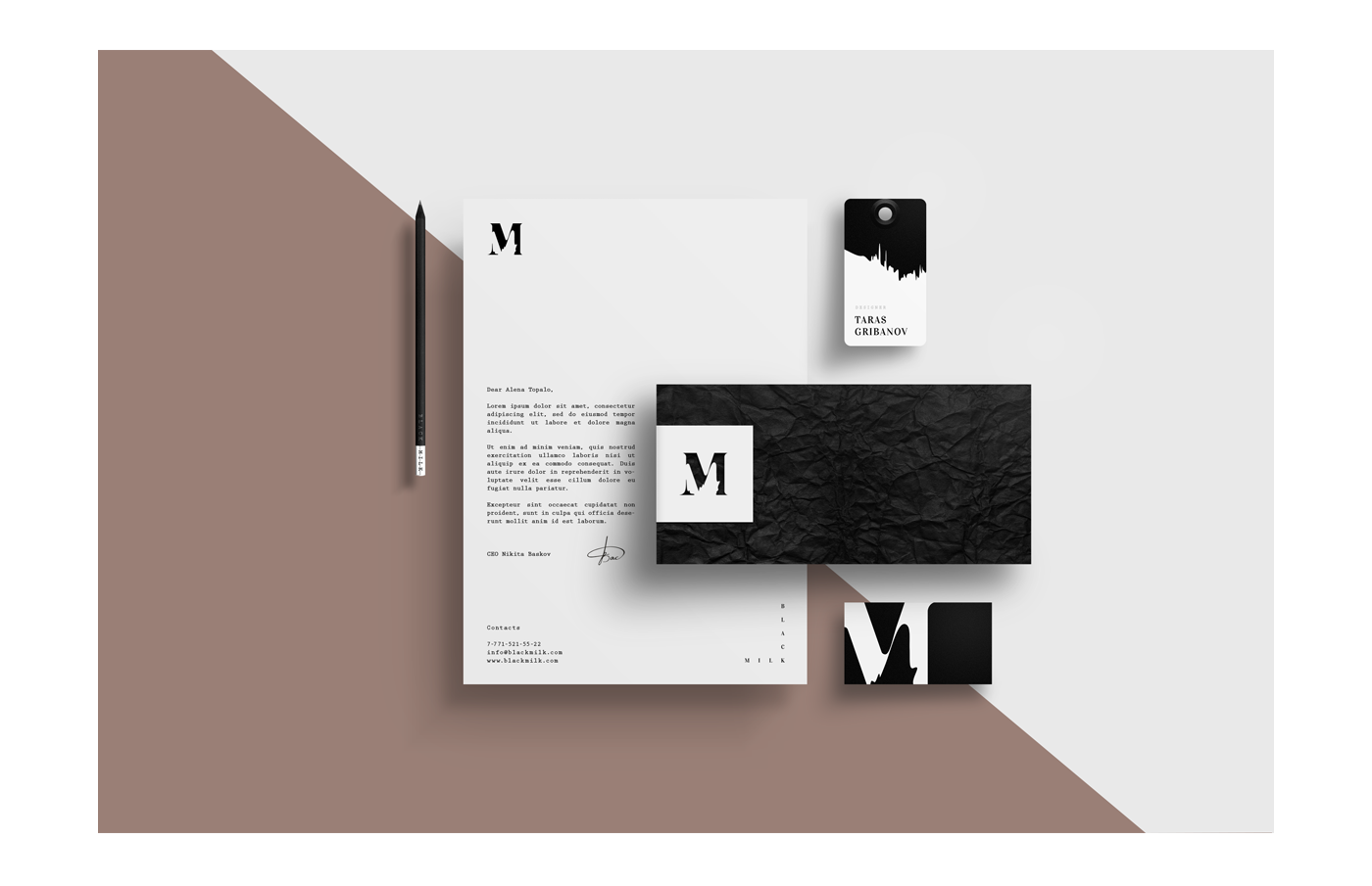 visual identity business card the envelope badge logo luxury wedding celebration best clear minimal White brown trend abstraction