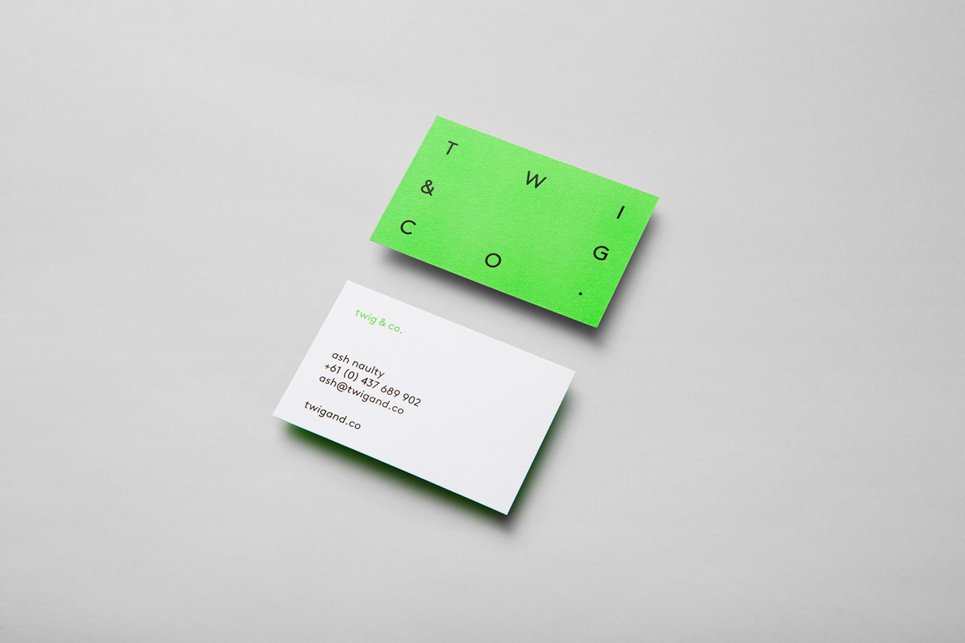green identity business card print
