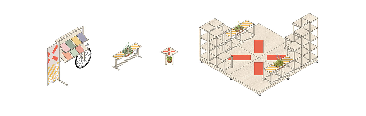 Modular systems that brings nature to the city streets.