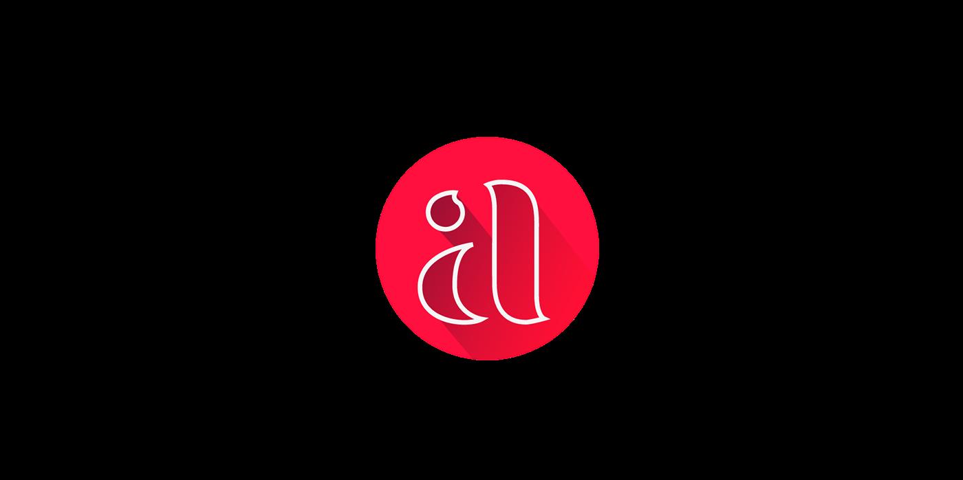 logo Logotype brand Logo Design red blue modern minimalist
