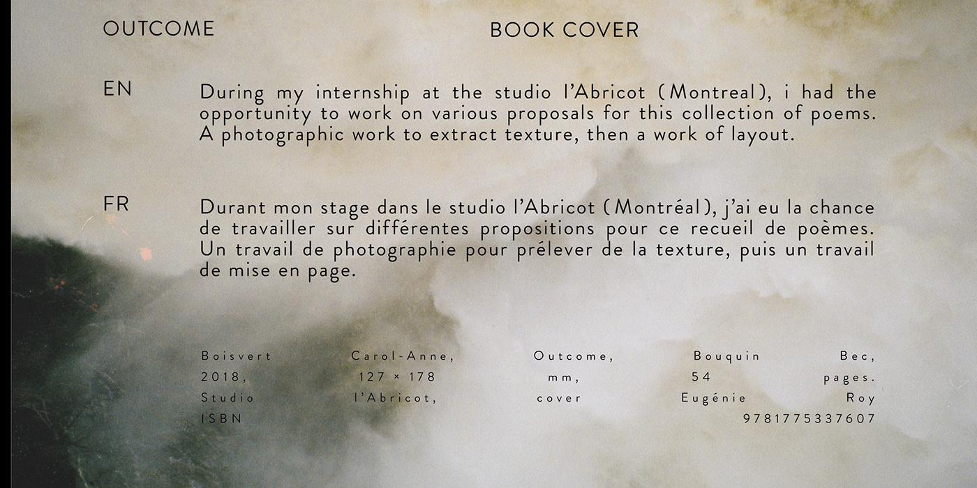 poems poésie livre Recueil graphisme edition textures mise en page cover graphicdesigner