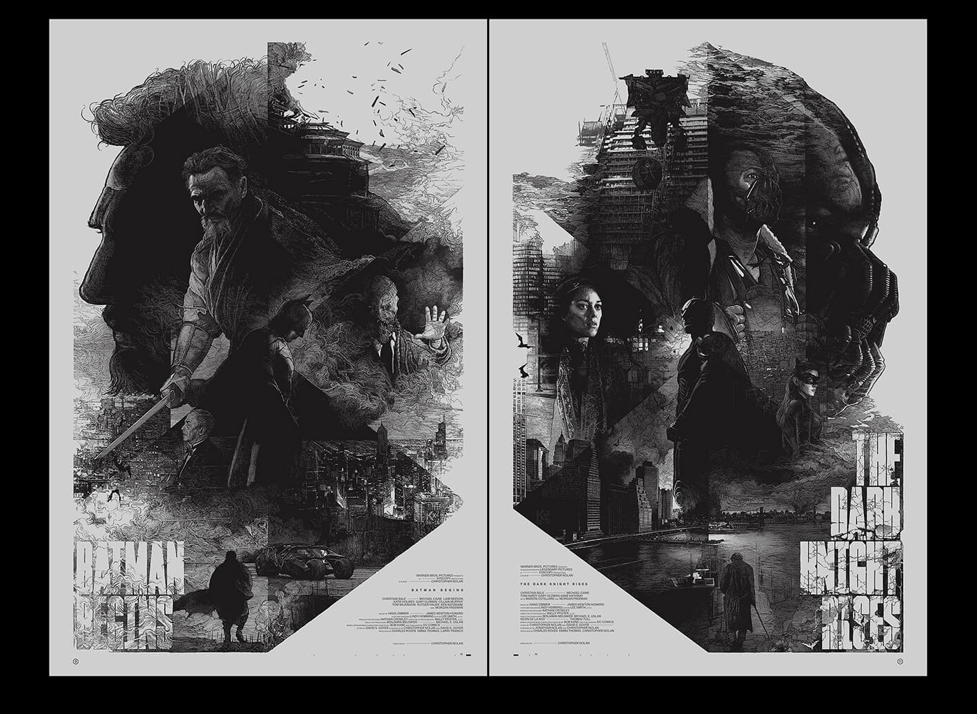 Illustration: The Dark Knight Trilogy by Krzysztof Domaradzki