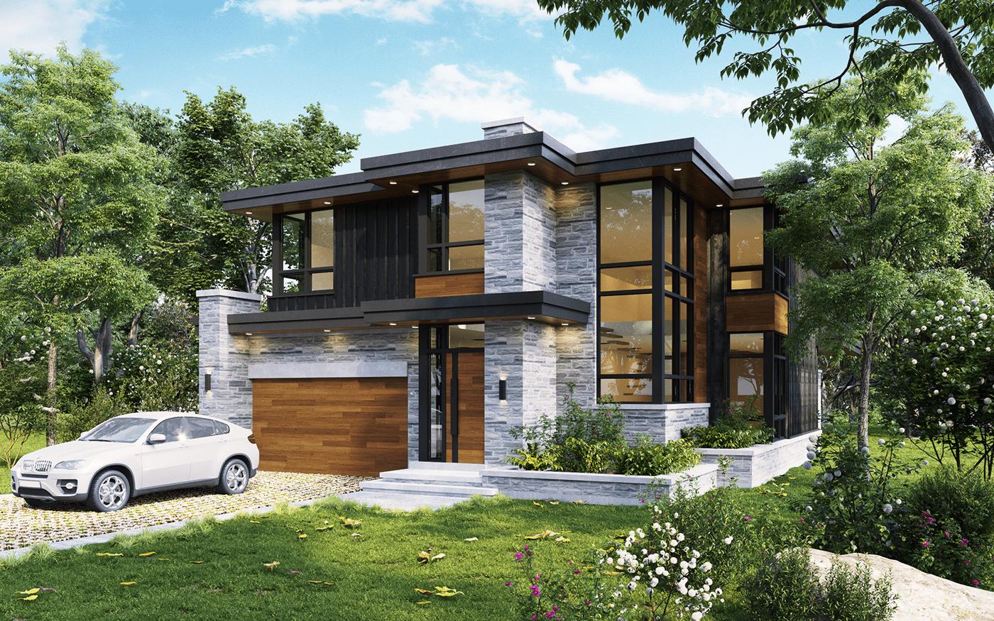 Modern Cozy Home in Canada   DEER Design on Behance