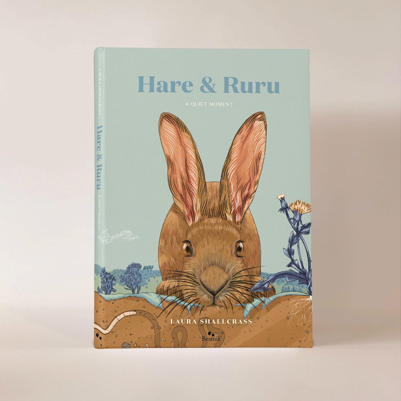 animals childrens book childrensbookillustration hare ILLUSTRATION  kidsillustration Nature newzealand picturebook ruru