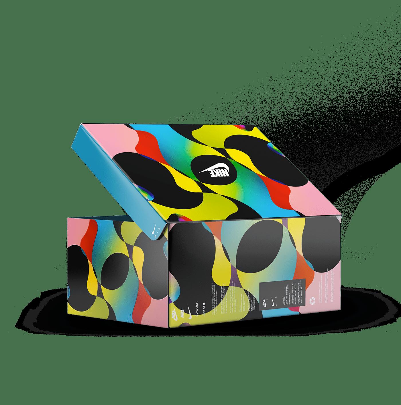 fluide Couleur degrader futuriste Nike nike react 270 Illustrator charte graphique graphic Halo