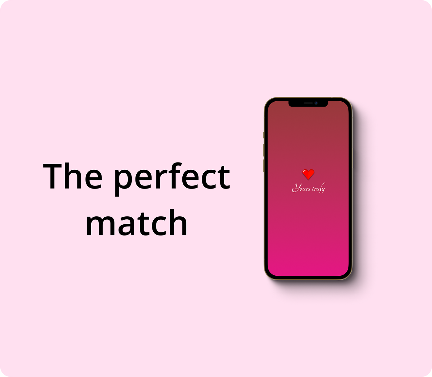 app application concept Dating design Jhon Raza Love pink UI yours truly