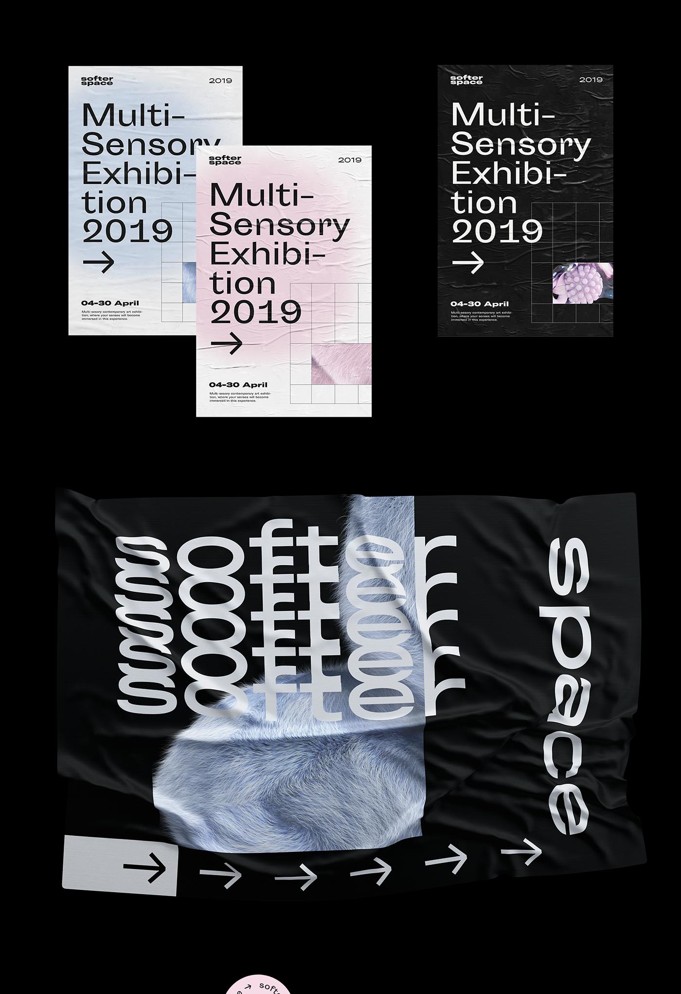 exhibit multi-sensory Spatial Design UI 3D asmr soft Experience SENSORY adobeawards
