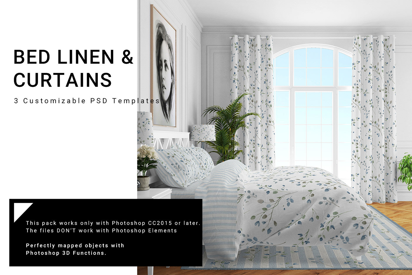 Bedding And Curtains Set On Behance