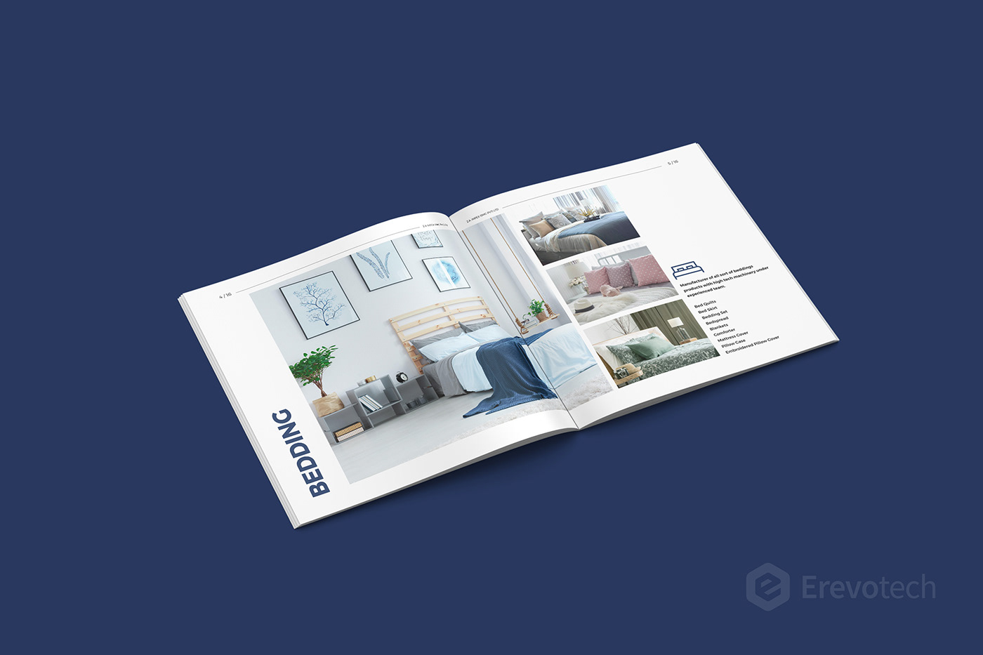 bedding product brochure design