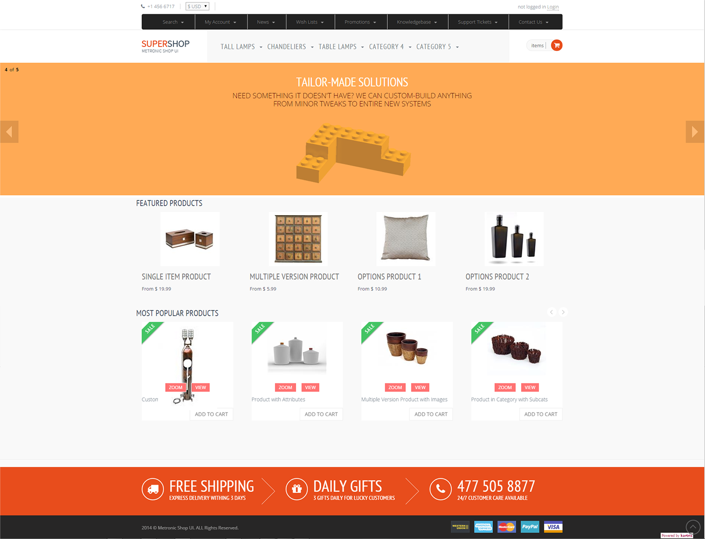 Ecommerce rad bootstrap front end for kartris on behance for Yahoo ecommerce templates
