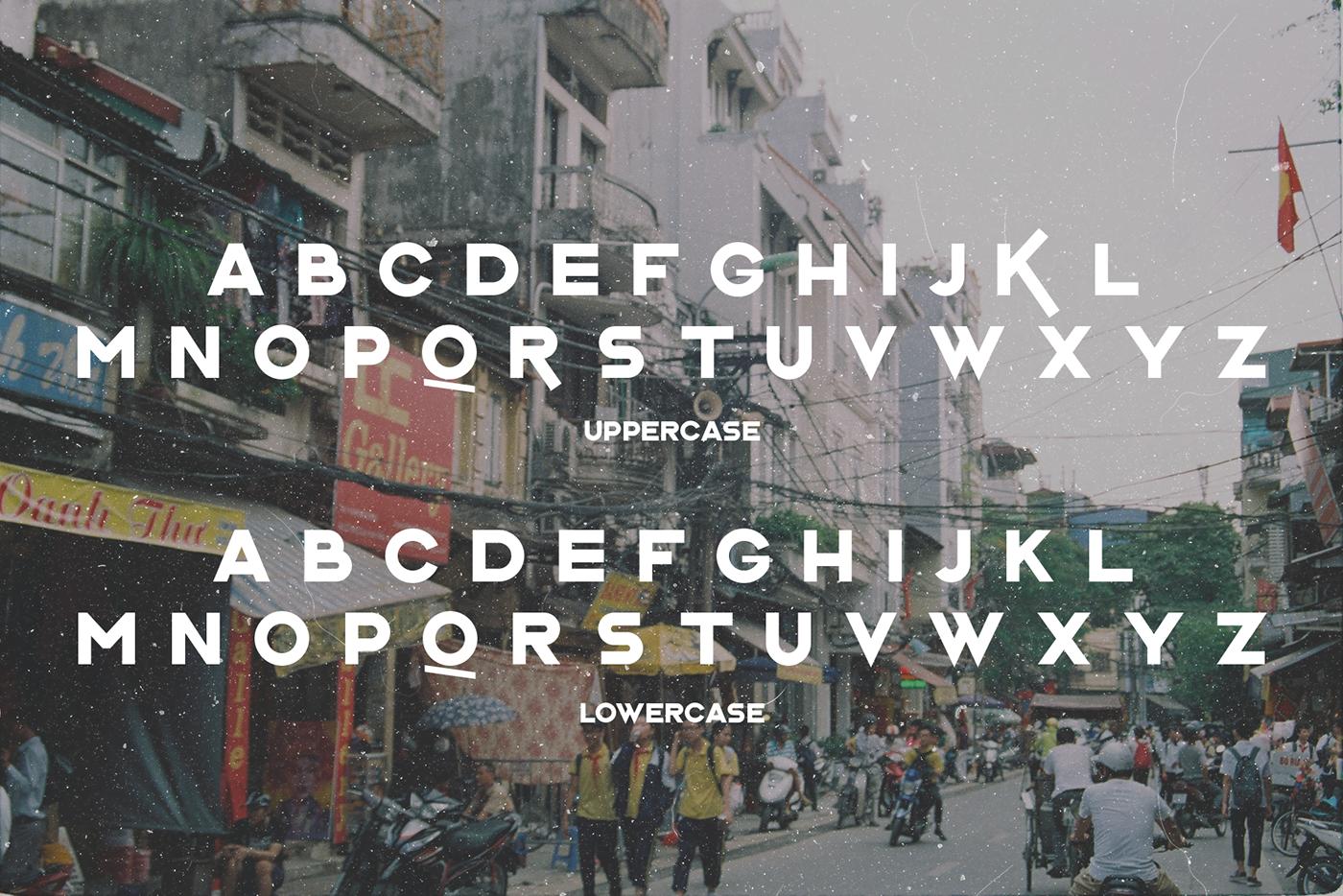 vietnam hanoi Free font saigon geometric sans serif