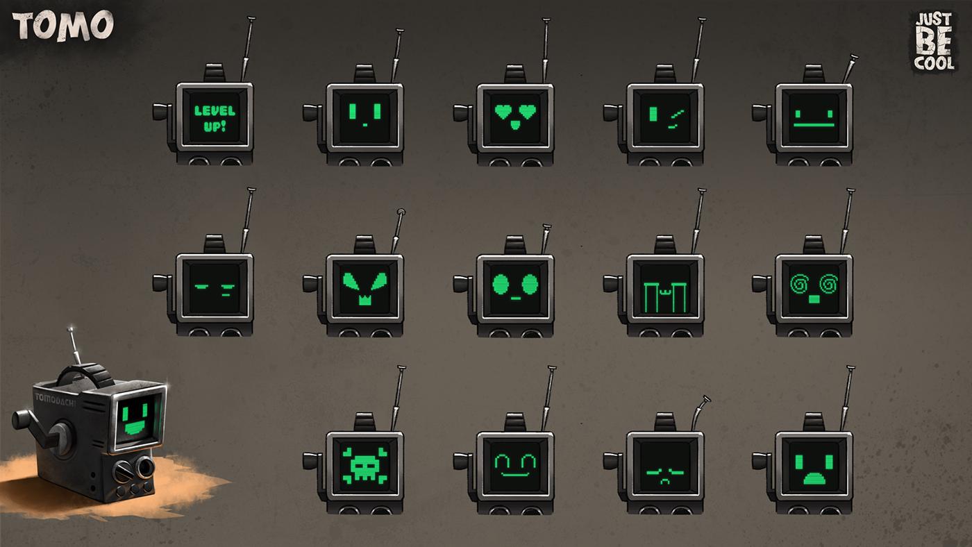 concept art mech backpack wasteland