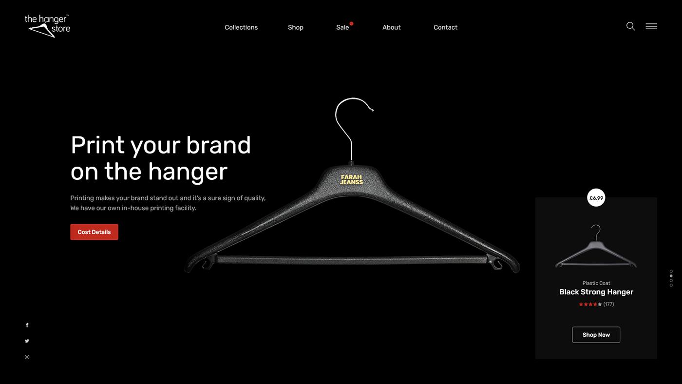 black darkmode hanger landing landingpage UI uiux ux Webdesign Website
