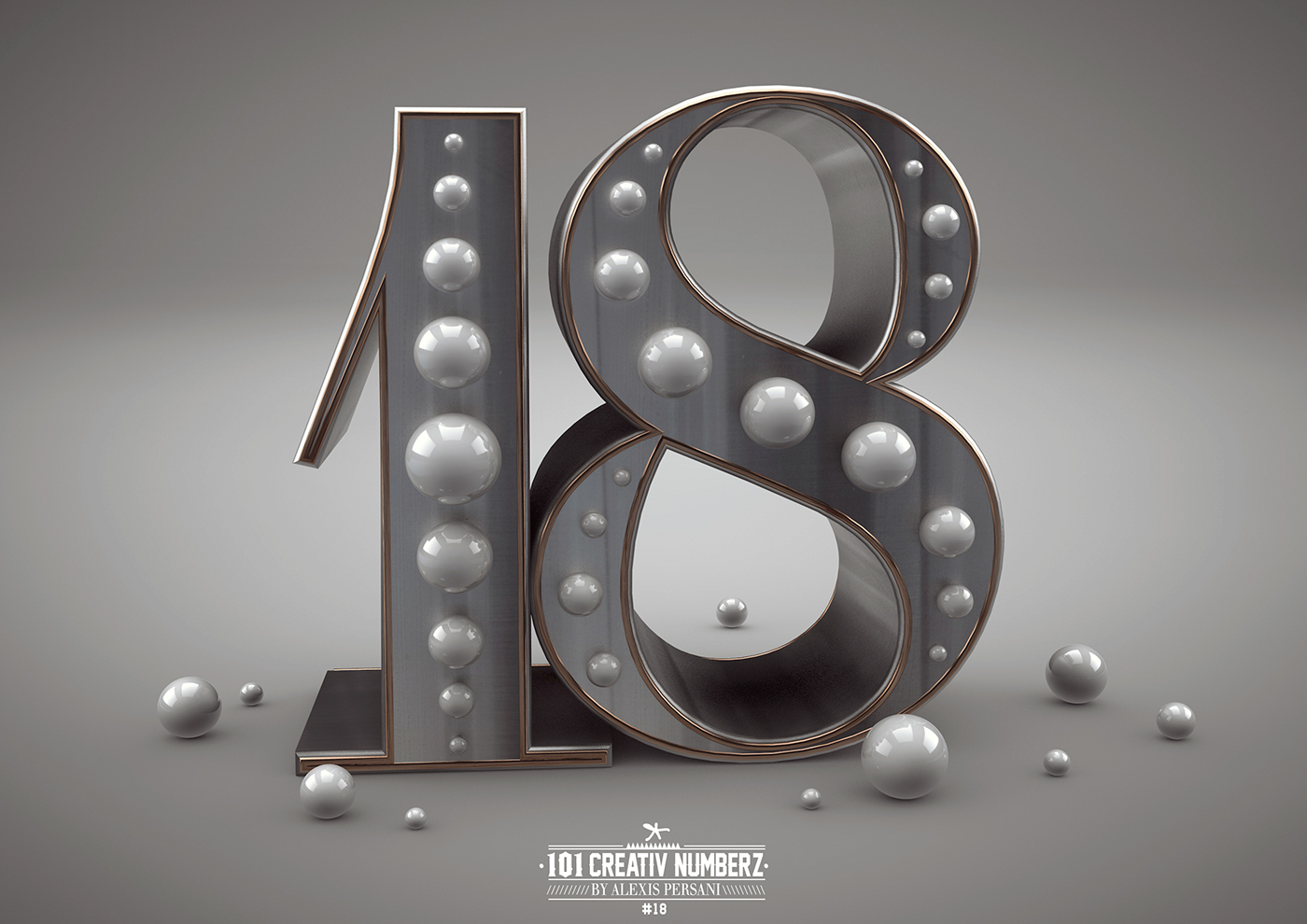 Outstanding 101 Creative Numbers Typography by Alexis Persani 16