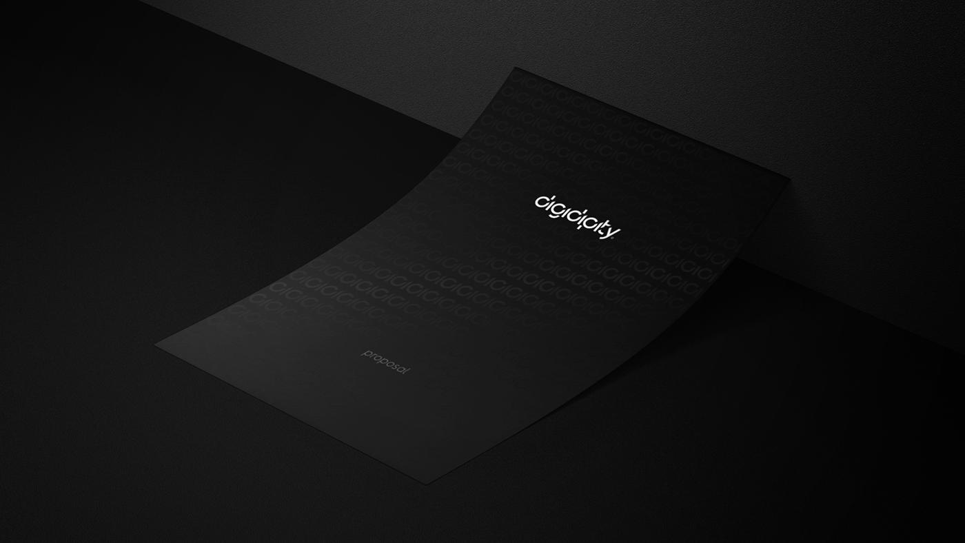 black creative design geometry identity logo pattern Stationery Geometrical minimalist