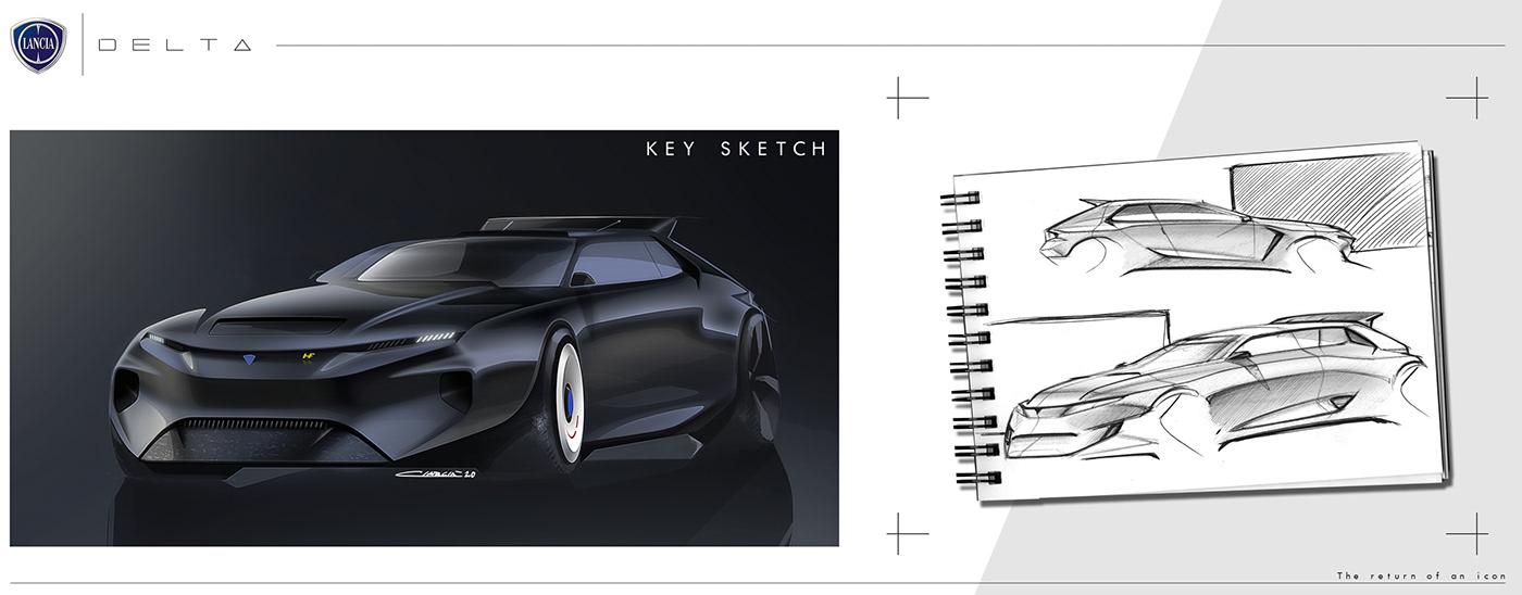 automotivedesign cardesign carsketches deltaconcept deltas4 hfintegrale Lancia lanciadelta makelanciagreatagain rendering