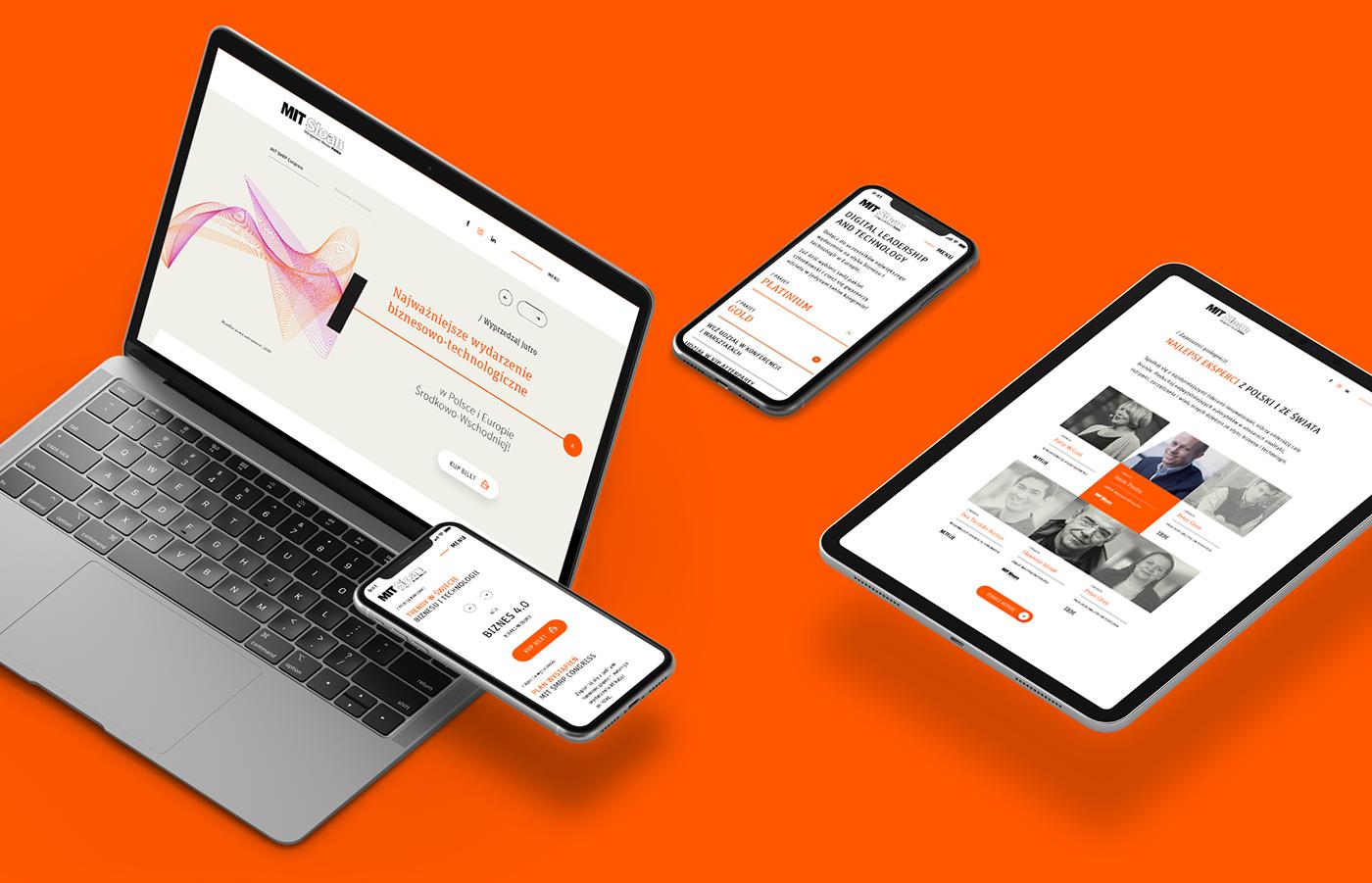 abstract conference Event landingpage minimal orange Website Meet MIT Technology