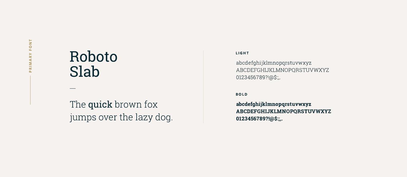 high school identity design - typography
