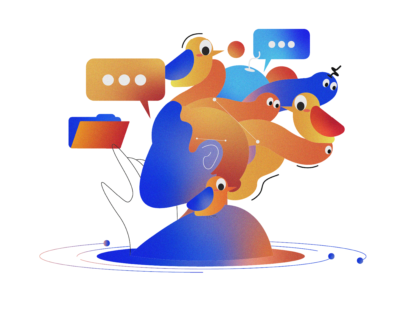 abstract Behance Character flat design gif graphic design  ILLUSTRATION  portrait post vector