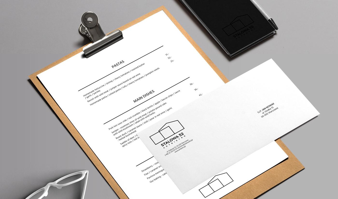 logo branding  hotel restaurant identity cards menu CI manual