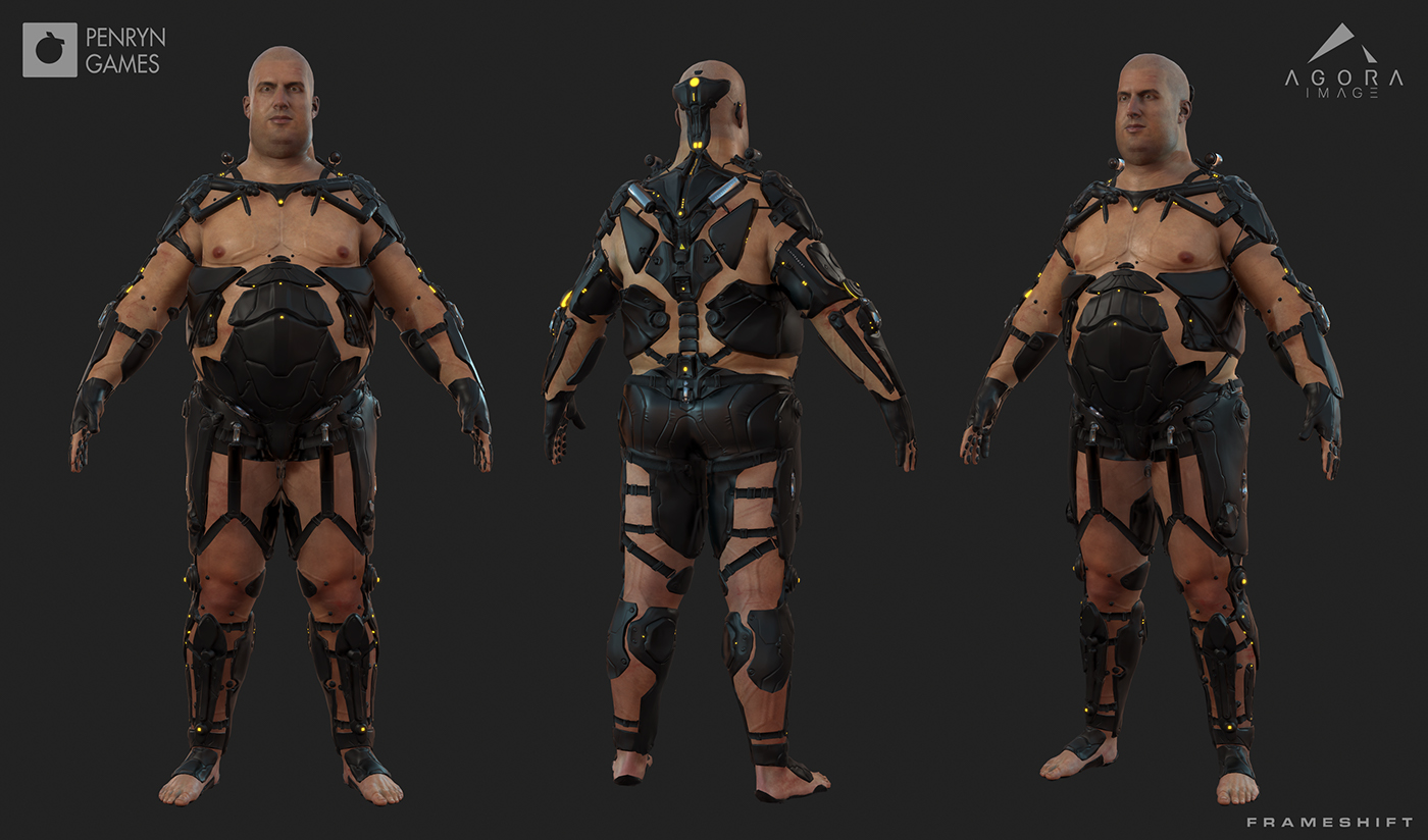 3d Character Design Behance : Frameshift d character models on behance
