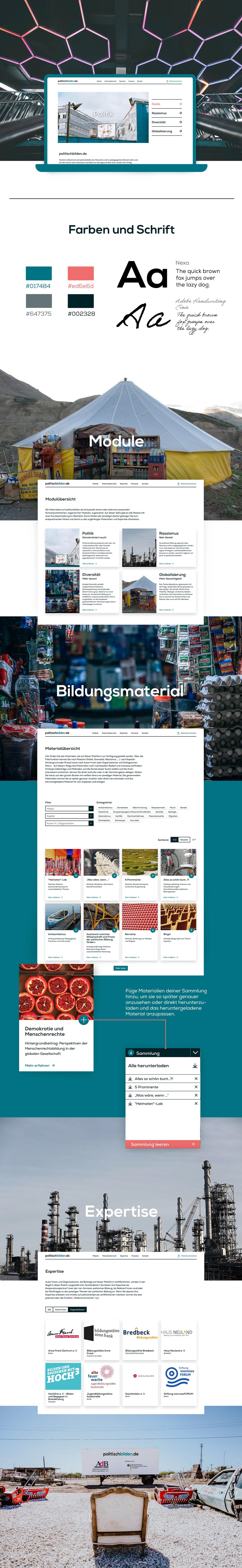 bildung design politik Webdesign Website