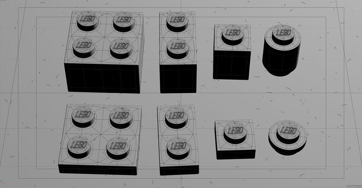 LEGO SSS Render cycles Cycles 4D cinema 4d Raphael Rau Silverwing photorealism