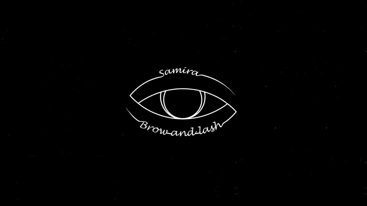 beauty brands brow eye logo logoanimation Logomotion motionart motiondesigns motiongraphics