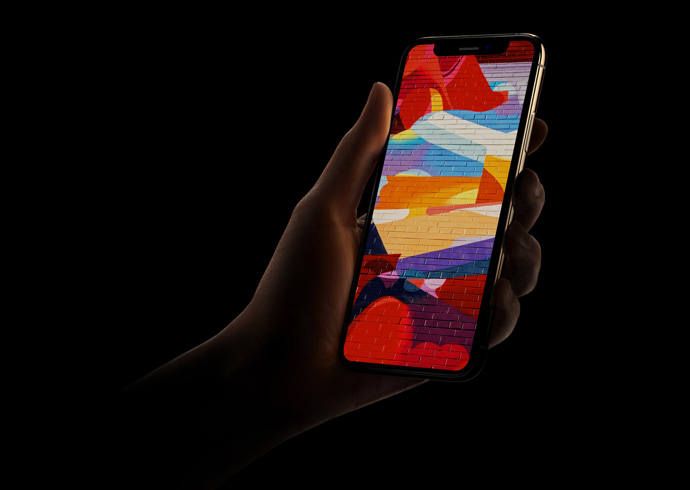 iPhone XS Mockup PSD Free Download