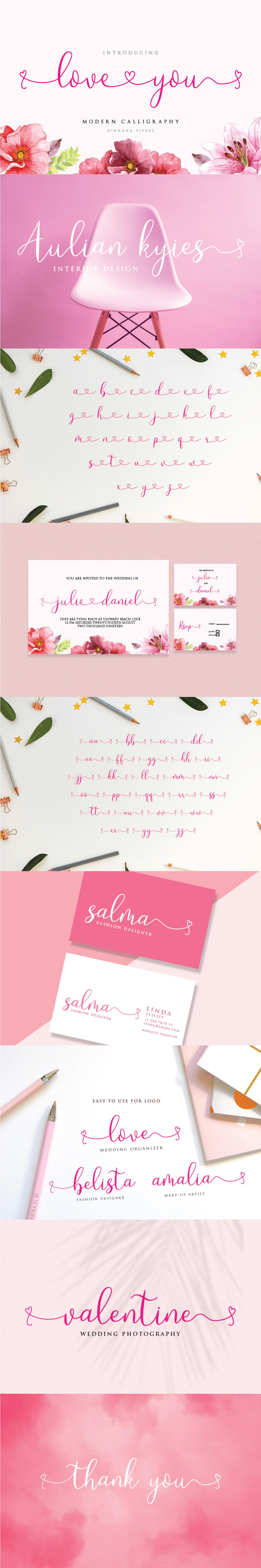 Шрифт – Loveyou
