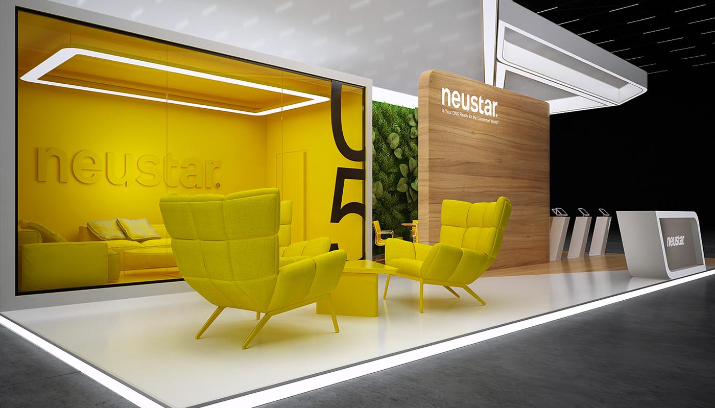 Exhibition Stand Behance : Neustar exhibition stand on behance