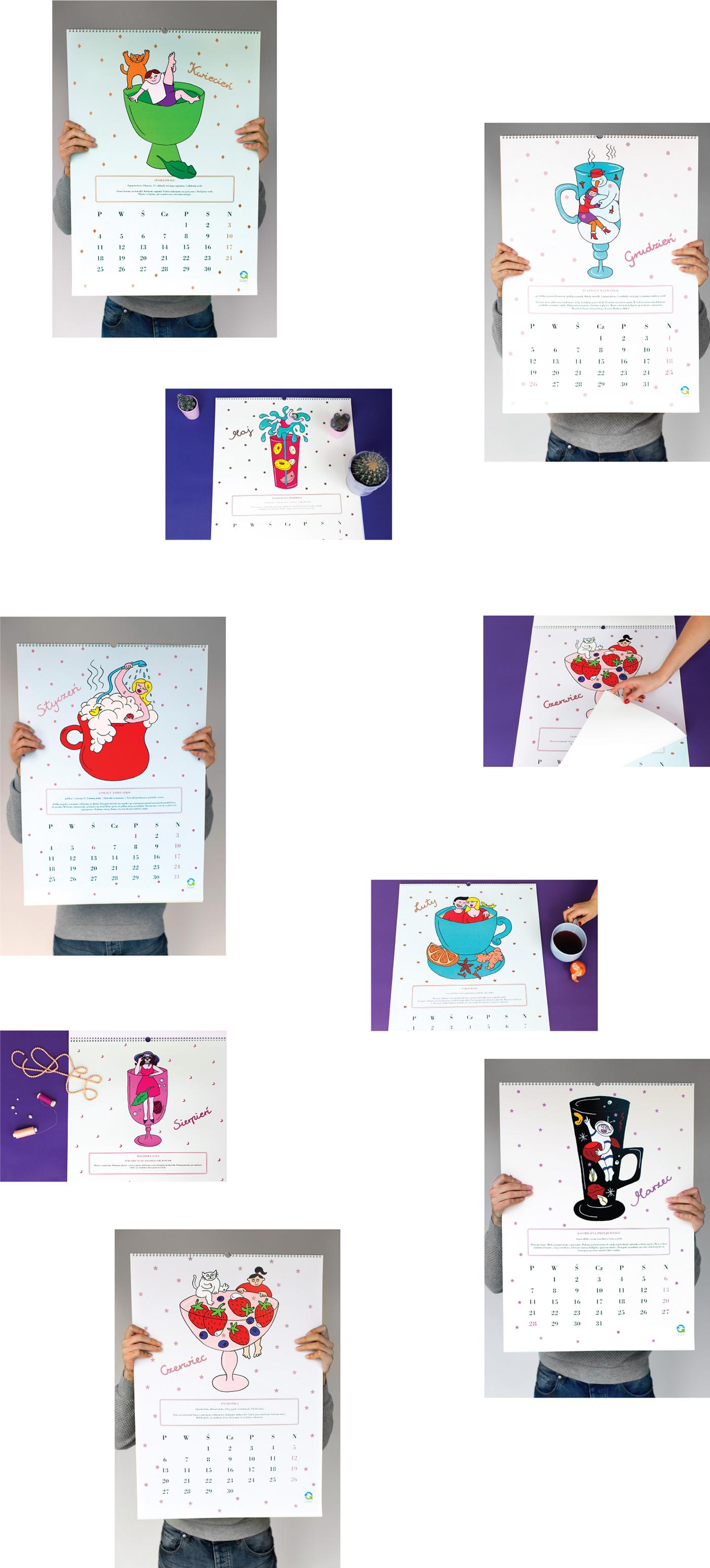 calendar ceramics  water recipe Liquid cup drink sewer Character Hero swimming Fun bath Love sexy