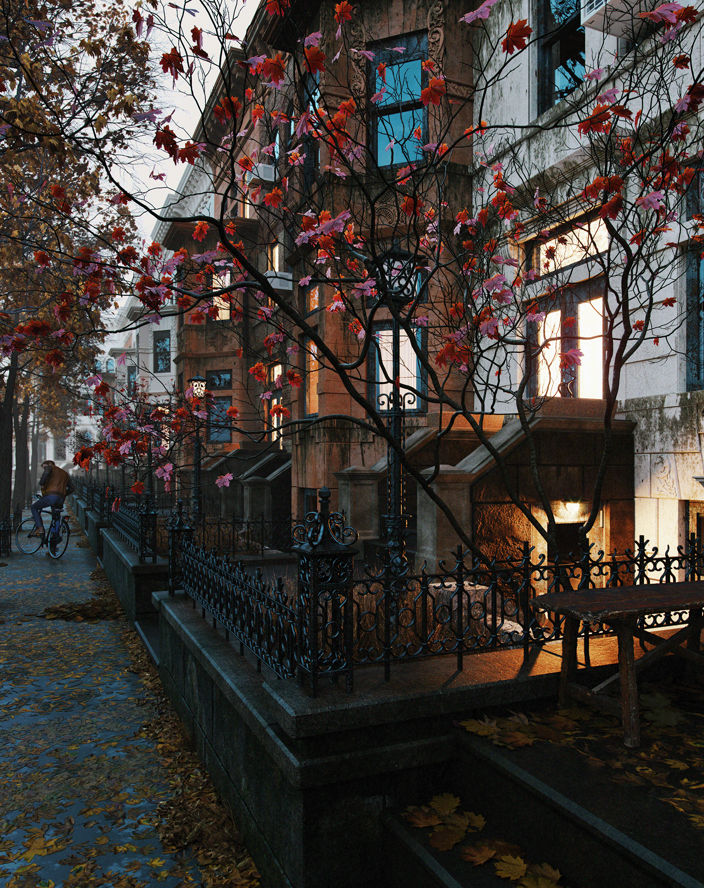 Image may contain: outdoor, autumn and city