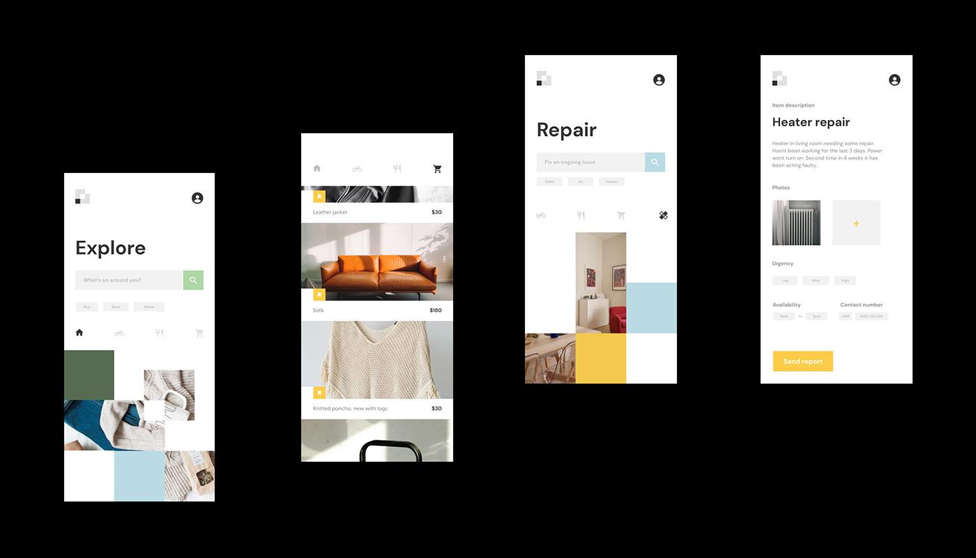 App branding and user interface. Logo design and digital marketing.
