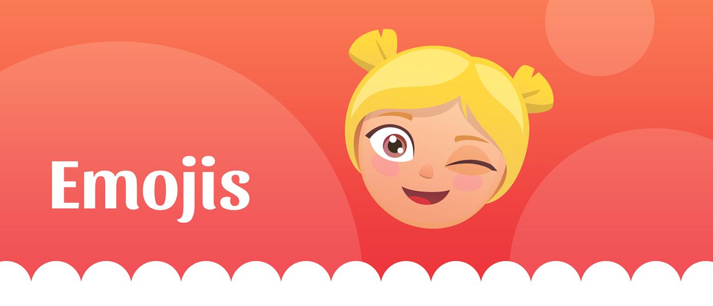 ilustracion Iconos Emojis Food