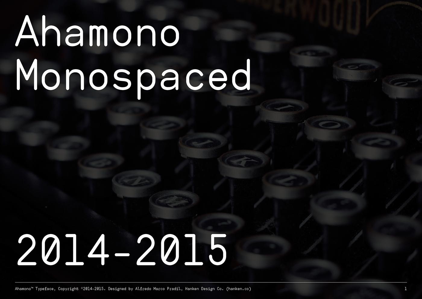 monospaced font ahamono Typeface regular download webapp Website application