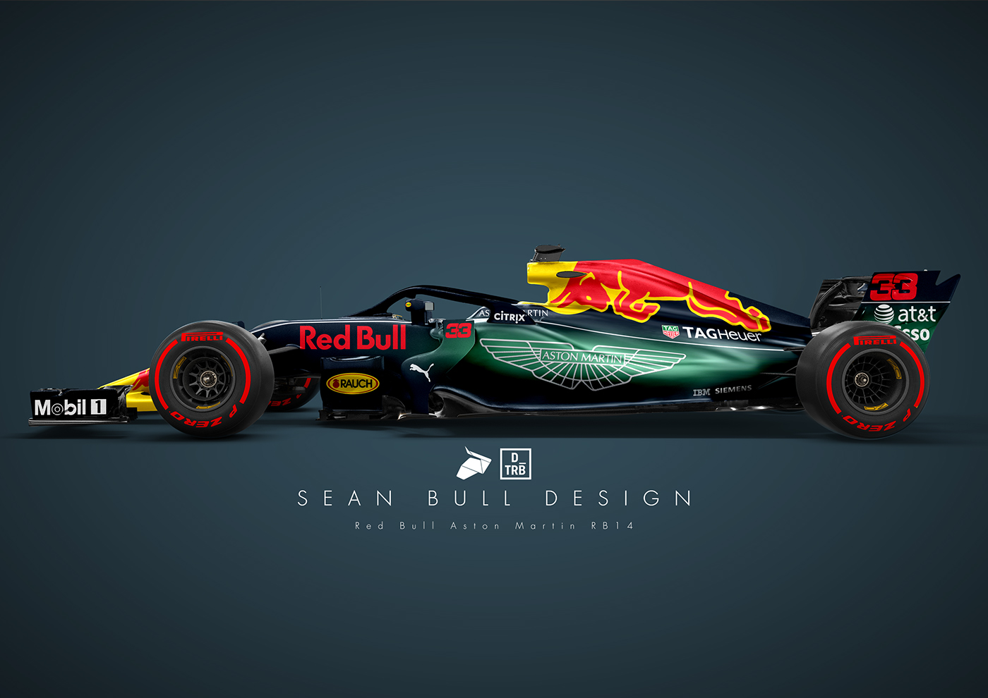 Aston Martin Red Bull Rb14 Livery Concept On Behance